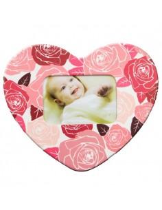 Magnet inima-trandafiri insertie foto
