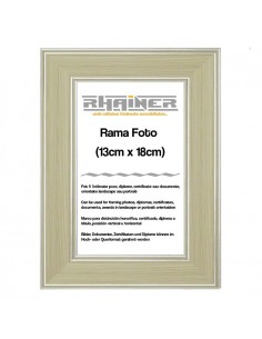 Rama foto Malaga crem+argintiu 13x18