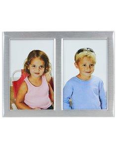 Mini Rama foto dubla aluminiu 8.5x11