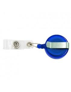 Clips retractabil albastru