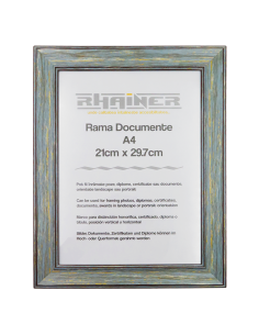 Rama foto Malaga verde+visiniu A4