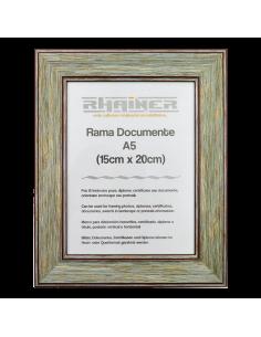 Rama foto Malaga verde+visiniu A5
