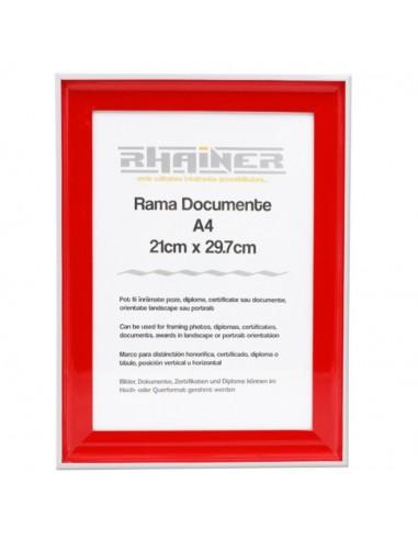 Rama foto Almeria rosu A4