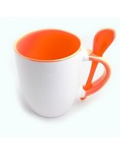 Cana cu lingurita maner interior portocaliu
