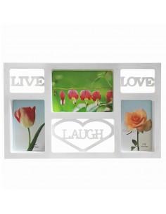 Rama foto colaj Live Laugh Love 3 poze