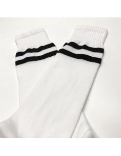 Jambiere sport alb+negru