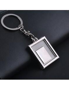 Breloc metalic insertie foto dreptunghi