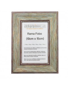Rama foto Malaga verde+visiniu 10x15