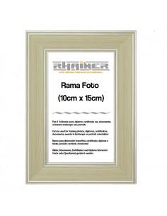 Rama foto Malaga crem+argintiu 10x15