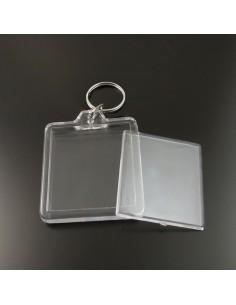 Breloc plastic insertie foto 7x5