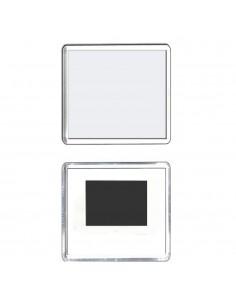 Magnet plastic insertie foto 6,5x6,5 - set 50 buc
