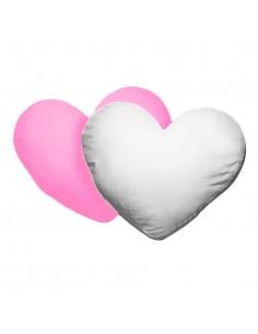 Husa perna mata inima alb+roz deschis