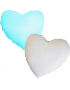 Husa perna mata alb+albastru deschis inima