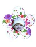 Magnet floare colorata insertie foto