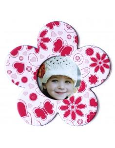 Magnet floare roz insertie foto