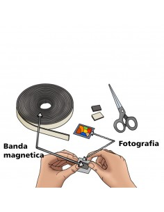 Banda magnetica cu adeziv 15m x 1,5cm