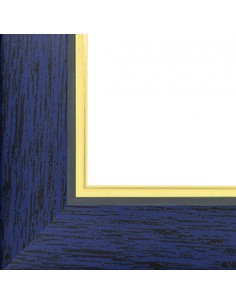 Rama foto Madrid albastru+auriu