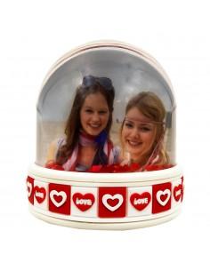 Glob foto Love alb+rosu - LED