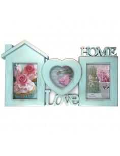 Rama foto colaj bleu Love&Home 3 poze