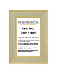 Rama foto Malaga crem+auriu 13x18