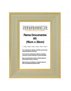 Rama foto Malaga crem+auriu A5