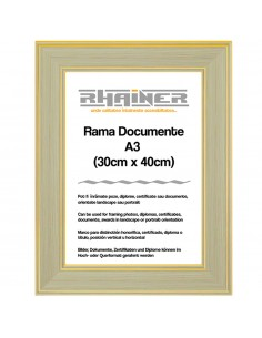 Rama foto Malaga crem+auriu A3