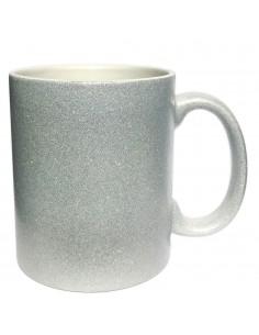 Cana GLITTER argintie sublimabila
