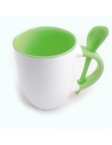 Cana cu lingurita maner interior verde deschis
