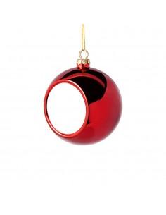 Glob sublimabil rosu pentru brad Ø 4cm