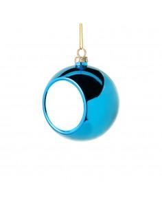 Glob sublimabil albastru pentru brad Ø 4cm