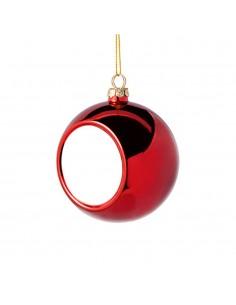 Glob sublimabil rosu pentru brad Ø 6cm