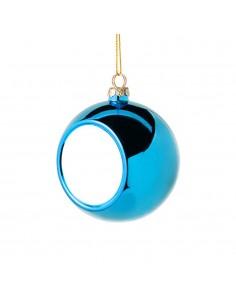 Glob sublimabil albastru pentru brad Ø 6cm