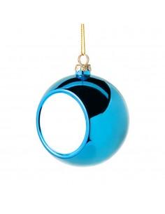 Glob sublimabil albastru pentru brad Ø 8cm