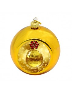Glob sublimabil auriu pentru brad Ø 8cm