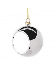 Glob sublimabil argintiu pentru brad Ø 8cm