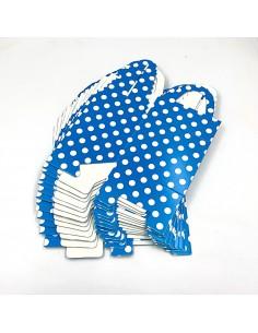 Cutie cani albastru inchis cu buline