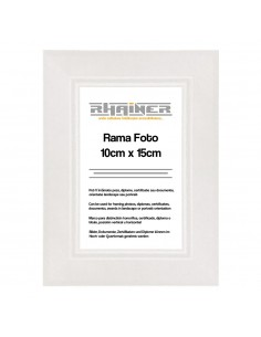 Rama foto Madrid alb 10x15