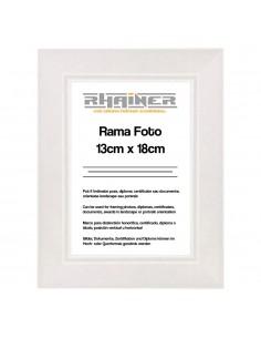 Rama foto Madrid alb 13x18