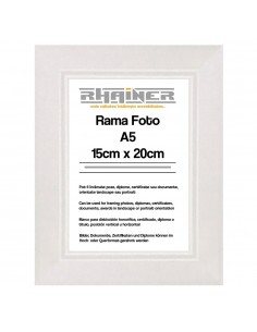 Rama foto Madrid alb A5
