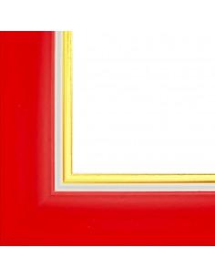 Rama foto Madrid rosu+auriu A4