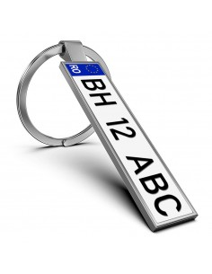 Breloc metalic insertie foto AUTO