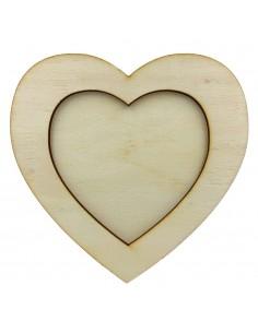 Rama foto lemn inima