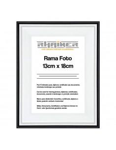 Rama foto Barcelona alb+negru 13x18