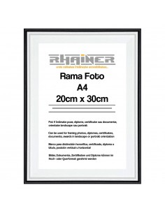 Rama foto Barcelona alb+negru A4