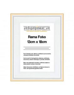 Rama foto Barcelona alb+auriu 13x18