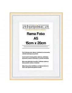 Rama foto Barcelona alb+auriu A5