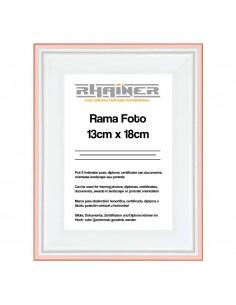 Rama foto Barcelona alb+auriu rose 13x18
