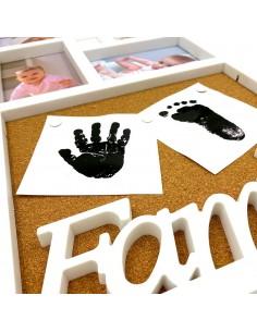 Rama foto colaj FAMILY + tabla de pluta 4 poze