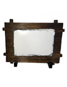 Placa ardezie pe suport de lemn