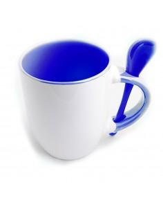 Cana cu lingurita maner interior albastru inchis